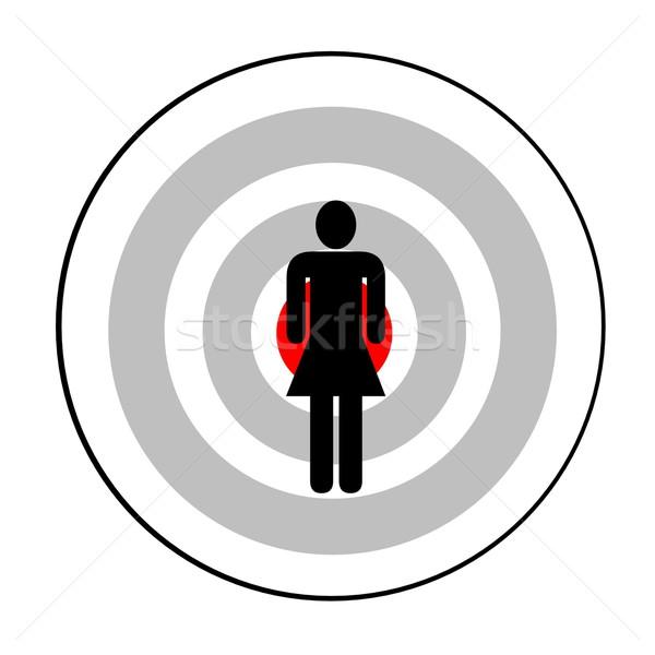 Female targeted Stock photo © Elenarts
