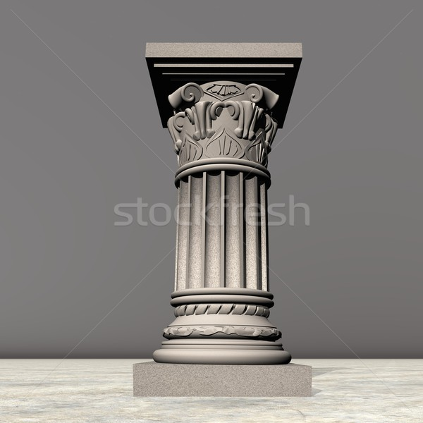 Stone column - 3D render Stock photo © Elenarts