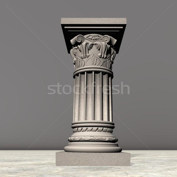 Pedra coluna 3d render um cinza Foto stock © Elenarts