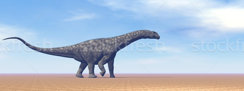 Argentinosaurus dinosaur in the desert - 3D render Stock photo © Elenarts
