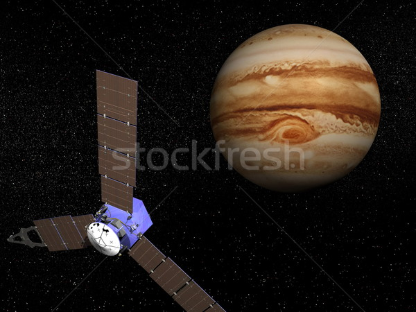 Juno spacecraft near Jupiter - 3D render Stock photo © Elenarts