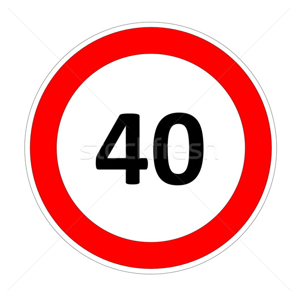 40 speed limit sign Stock photo © Elenarts