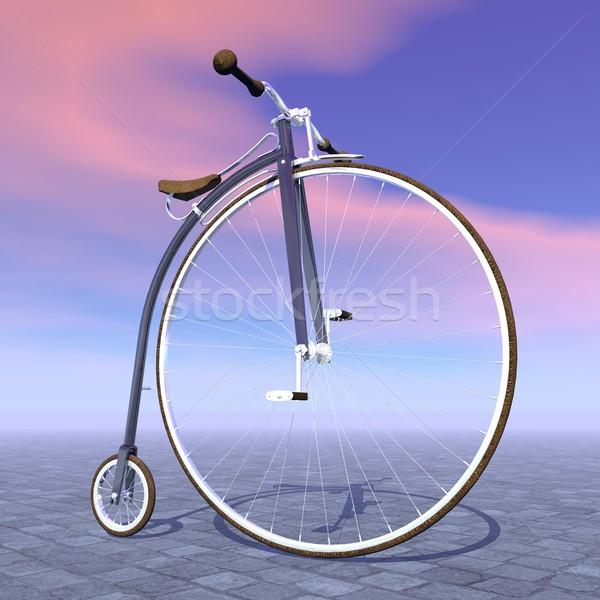 пенни велосипед 3d визуализации красивой один большой Сток-фото © Elenarts