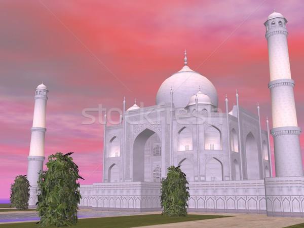 Taj Mahal mausoleo India rendering 3d noto Foto d'archivio © Elenarts