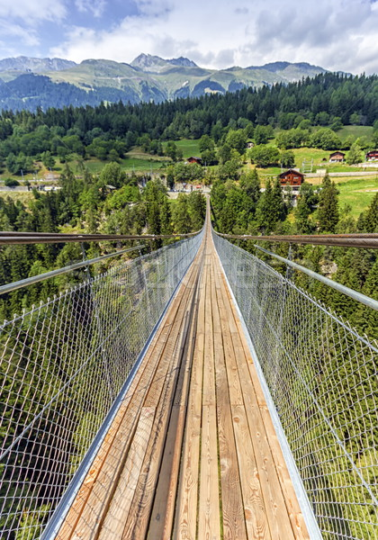Lama suspended bridge, Valais, Switzerland Stock photo © Elenarts