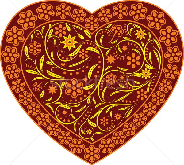 Corazón verano ornamento imagen pueden tamaño Foto stock © ElenaShow