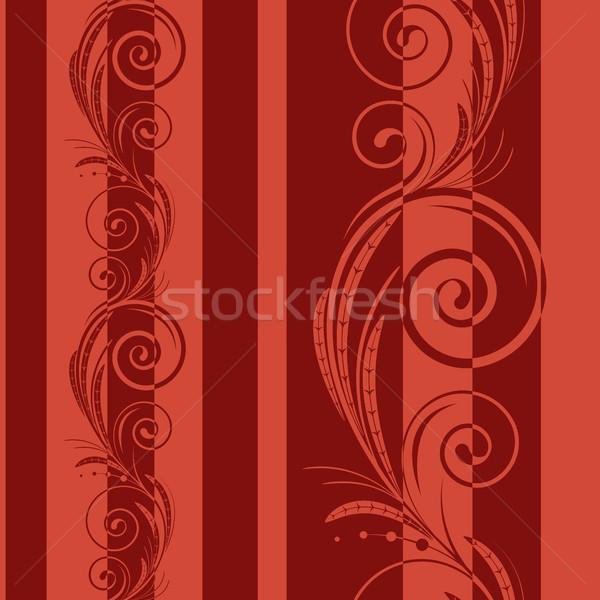 Tourbillons rouge résumé puzzle rétro Photo stock © ElenaShow