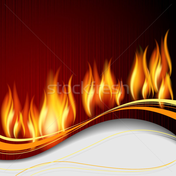 Background with flame Stock photo © ElenaShow