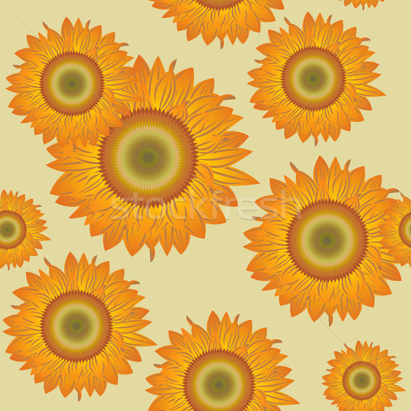 Foto stock: Sem · costura · girassóis · laranja · abstrato · lata