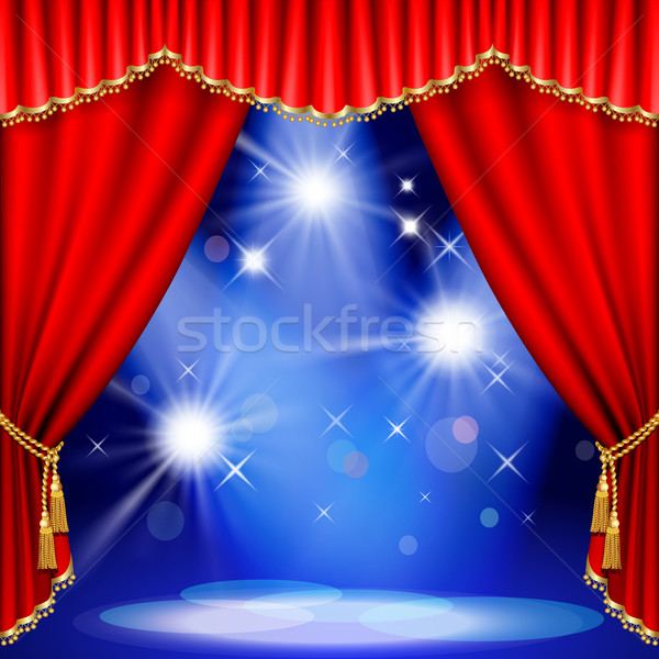 Stock photo:  Theater stage. Mesh.