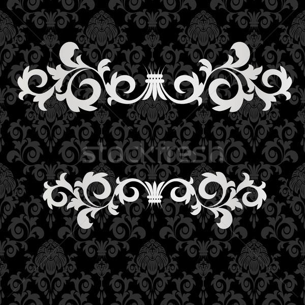 ヴィンテージ 黒 フレーム 渦 抽象的な デザイン ストックフォト © ElenaShow