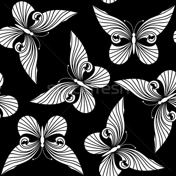 Seamless with butterflies Stock photo © ElenaShow
