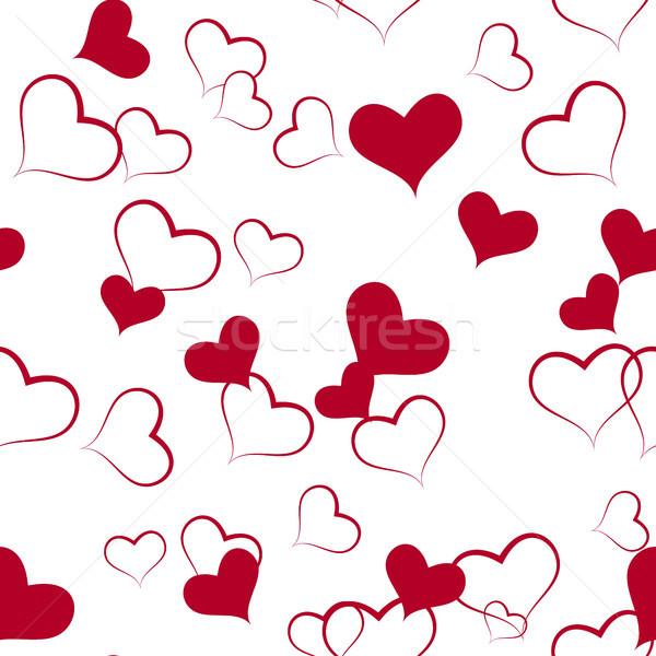 Kalp kâğıt boyama siluet beyaz Stok fotoğraf © ElenaShow