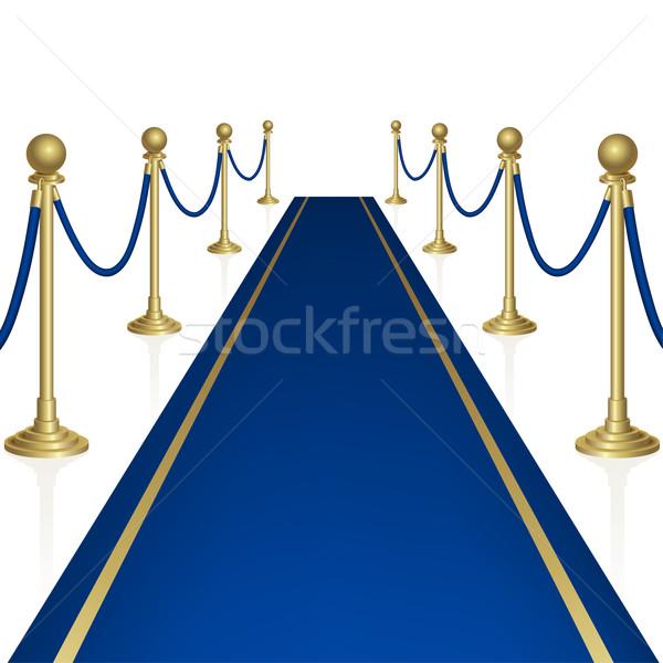 青 カーペット ガード マスク ステージ ストックフォト © ElenaShow