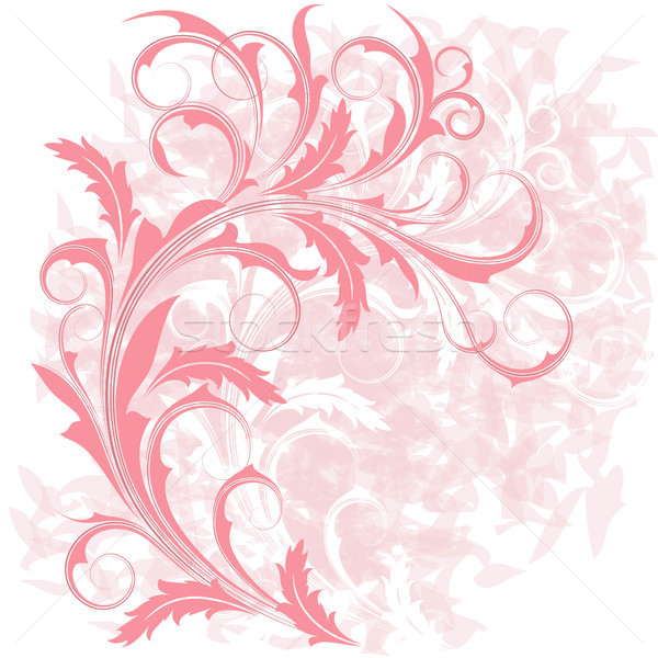 ピンク 支店 グランジ 抽象的な 葉 デザイン ストックフォト © ElenaShow
