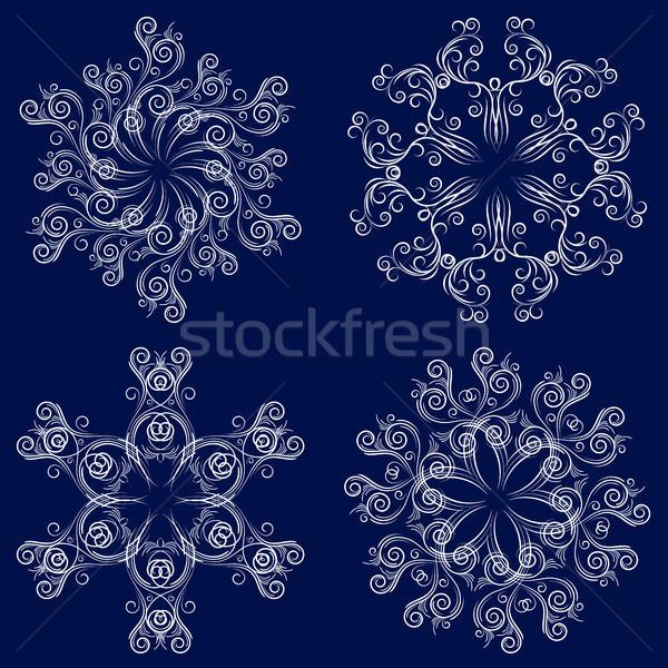 Set of four snowflakes Stock photo © ElenaShow