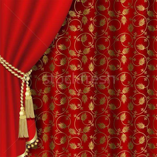 Red curtain  Stock photo © ElenaShow