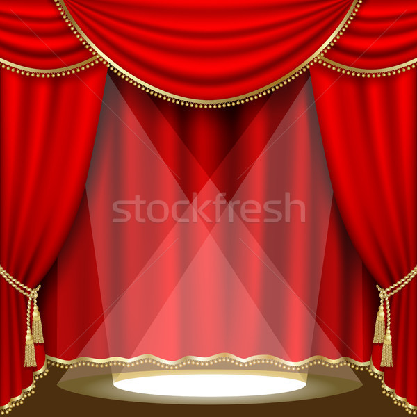 劇場 ステージ 赤 カーテン マスク ストックフォト © ElenaShow