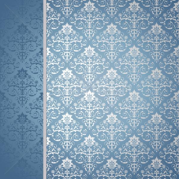 Blu argento fiori foglie texture foglia Foto d'archivio © ElenaShow