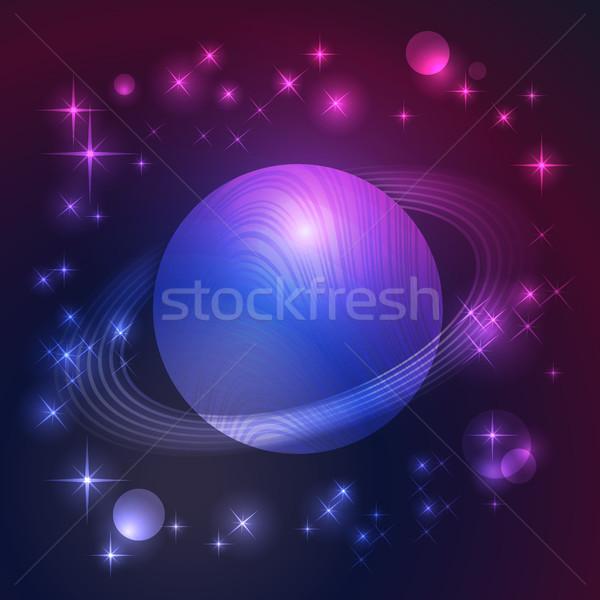 Uzay Yıldız soyut star duvar kağıdı arka Stok fotoğraf © ElenaShow