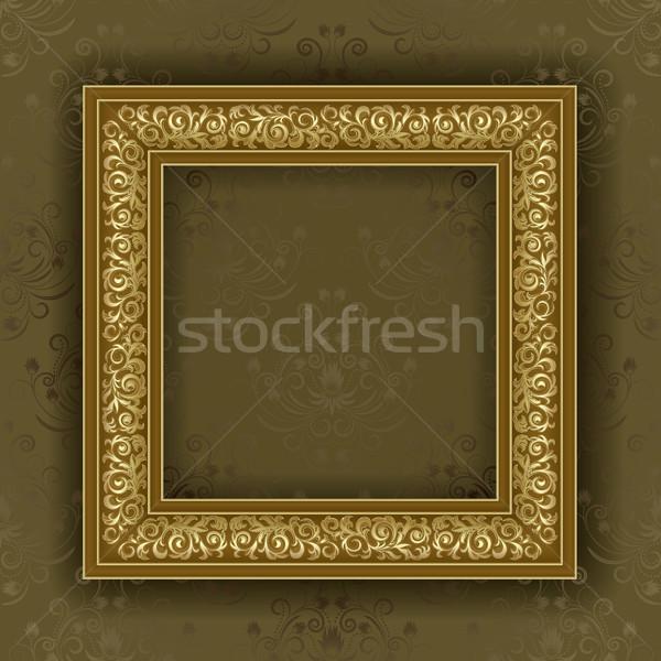 Cadre or mur brun wallpaper résumé Photo stock © ElenaShow