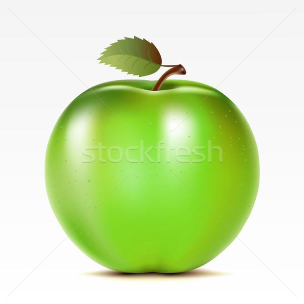 リンゴ 緑 白 食品 甘い オブジェクト ストックフォト © ElenaShow