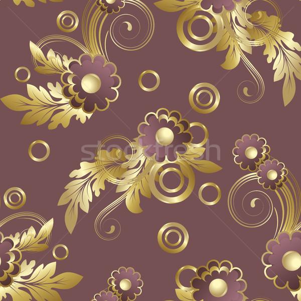 Seamless  with claret flowers Stock photo © ElenaShow