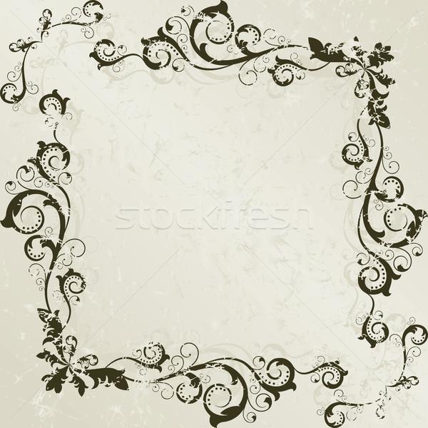 Vintage quadro abstrato flores projeto livre Foto stock © ElenaShow