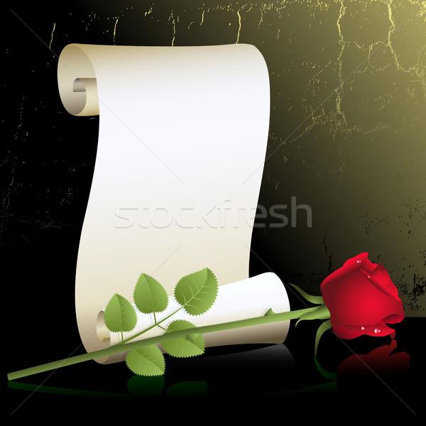 バラ ロール 赤いバラ 紙 自然 美 ストックフォト © ElenaShow