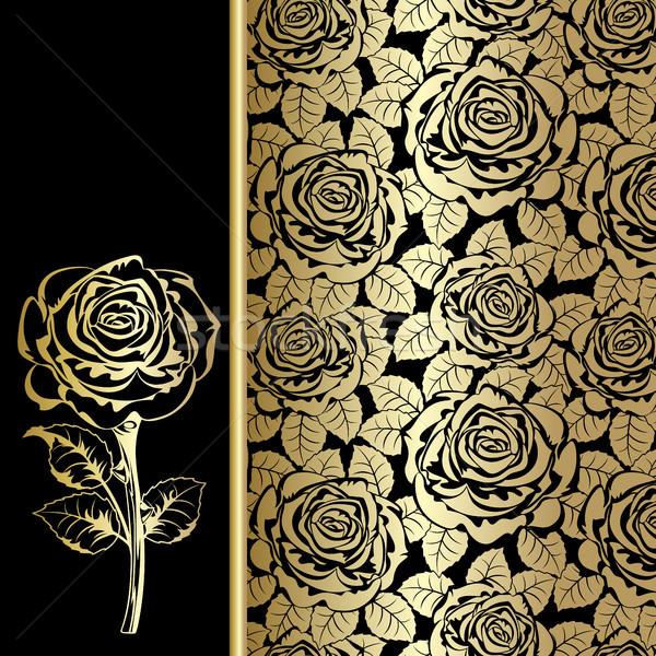 Siyah altın güller doku gül dizayn Stok fotoğraf © ElenaShow