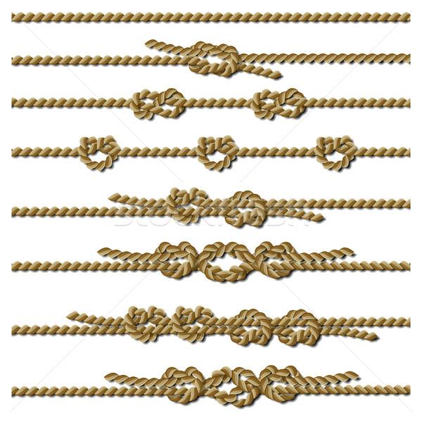 Ingesteld verschillend touw string clip Stockfoto © ElenaShow