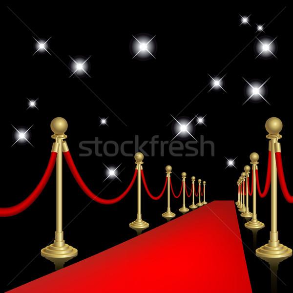 レッドカーペット ガード マスク ステージ 劇場 ストックフォト © ElenaShow