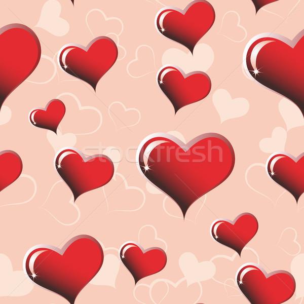 Kalp kâğıt sevmek boyama altın Stok fotoğraf © ElenaShow
