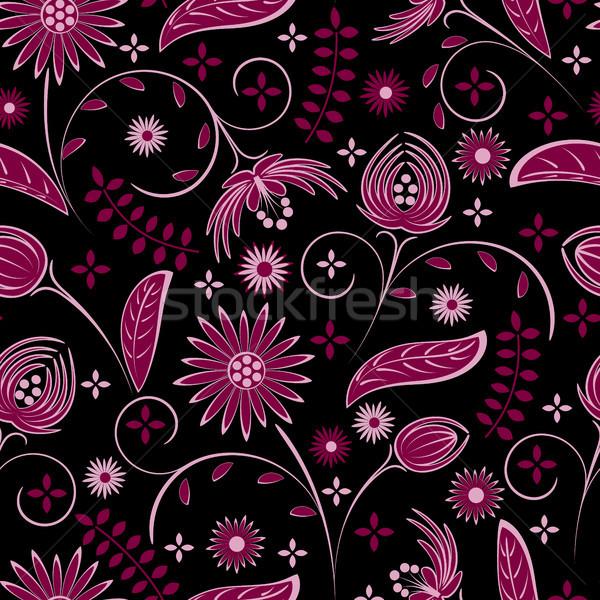 Stok fotoğraf: çiçekler · siyah · bilgisayar · doku · dizayn