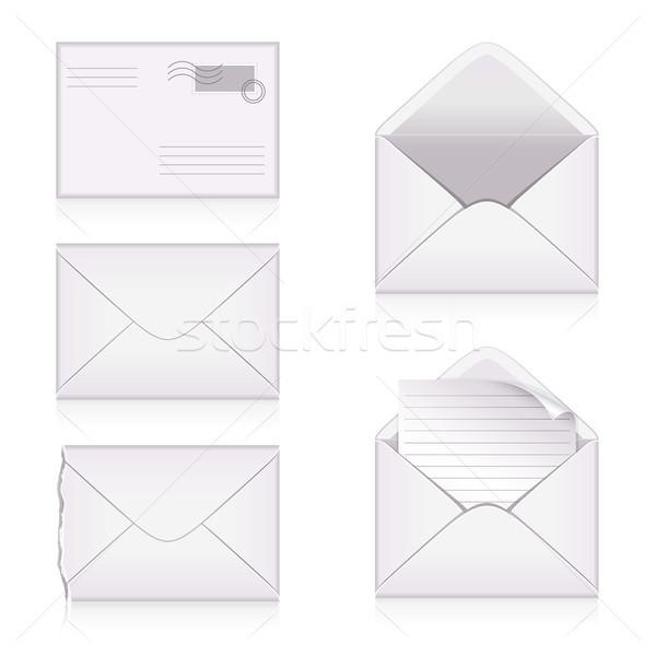 Conjunto papel projeto carimbo envelope gráfico Foto stock © ElenaShow