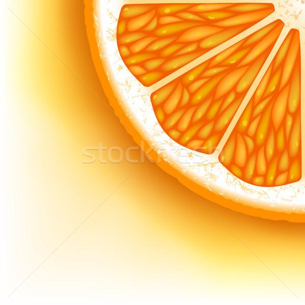 Pezzi arancione alimentare frutta tropicali dolce Foto d'archivio © ElenaShow