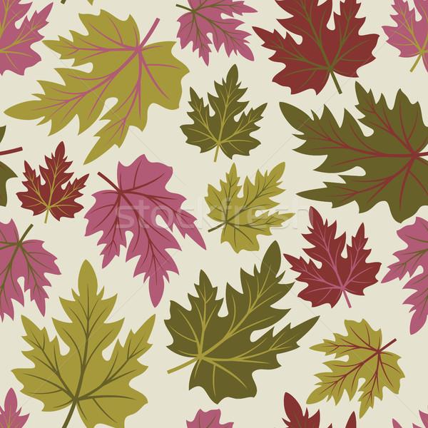 Sem costura folhas outono bordo textura Foto stock © ElenaShow