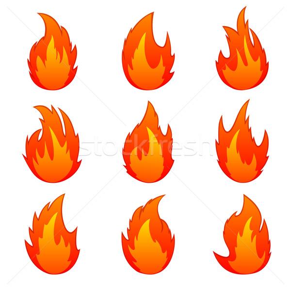 Set of flame Stock photo © ElenaShow