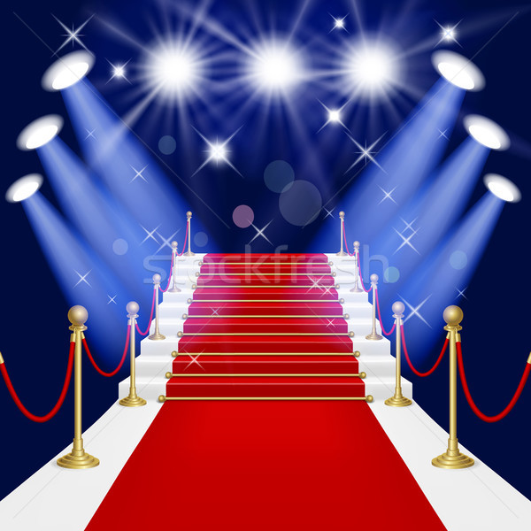 Red carpet with ladder Stock photo © ElenaShow