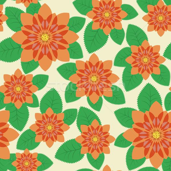 Seamless  with orange flowers Stock photo © ElenaShow