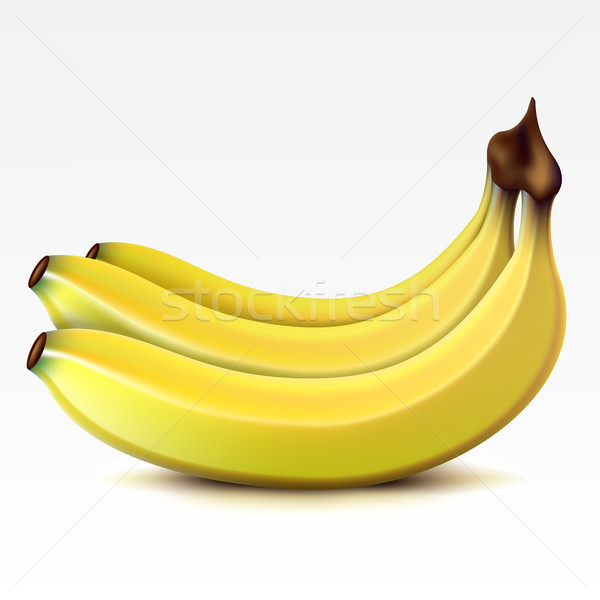 Bananes jaune blanche banane tropicales Photo stock © ElenaShow