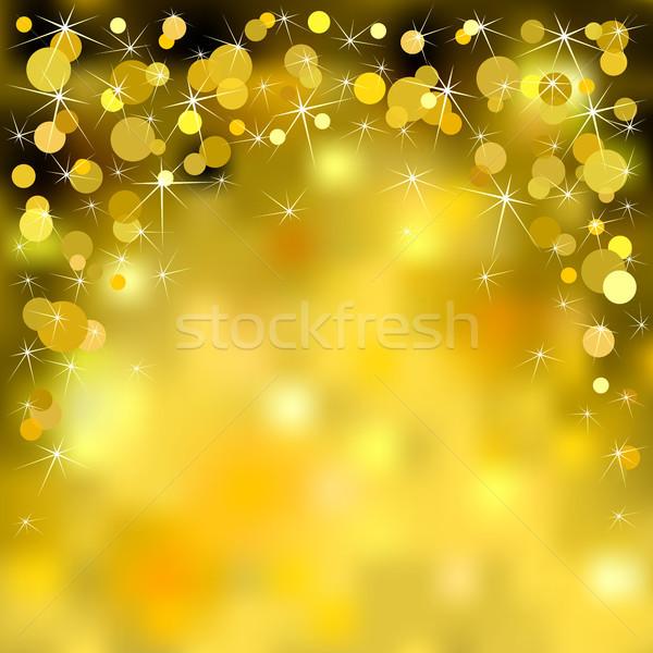 Noel altın parlak soyut çerçeve Stok fotoğraf © ElenaShow