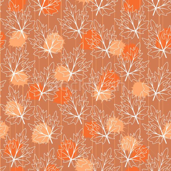 Senza soluzione di continuità foglie abstract texture sfondo Foto d'archivio © ElenaShow