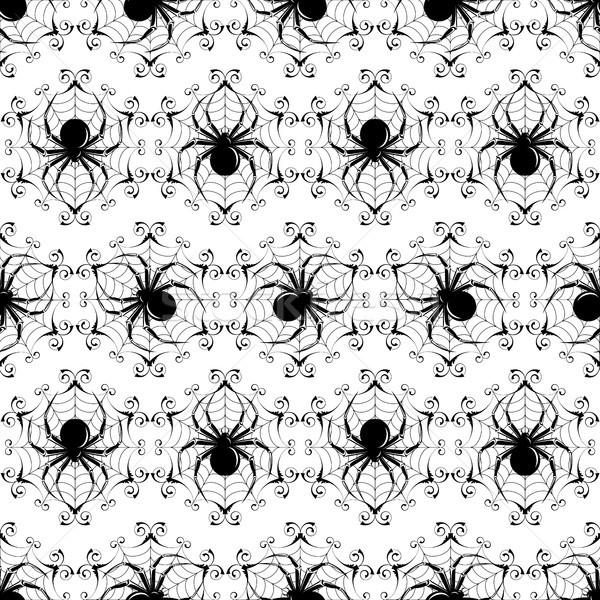 ハロウィン シームレス 黒 ウェブ することができます ストックフォト © ElenaShow