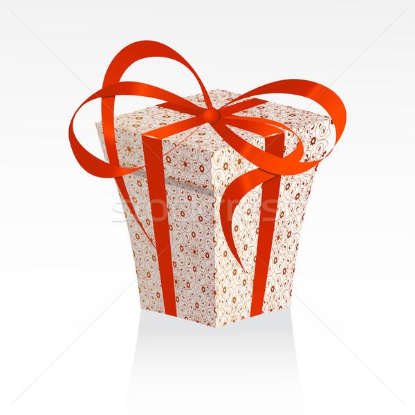 クリスマス ギフト 美しい ボックス 赤 白 ストックフォト © ElenaShow
