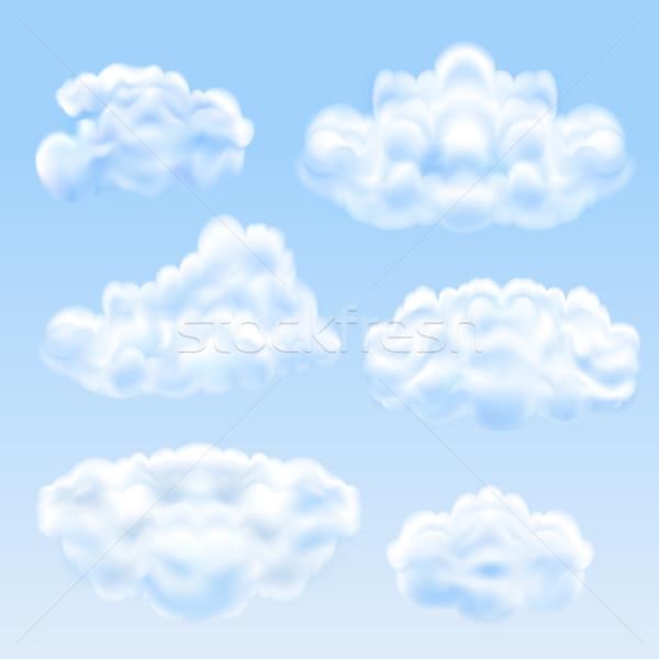 Set nubi eps10 cielo design Foto d'archivio © ElenaShow