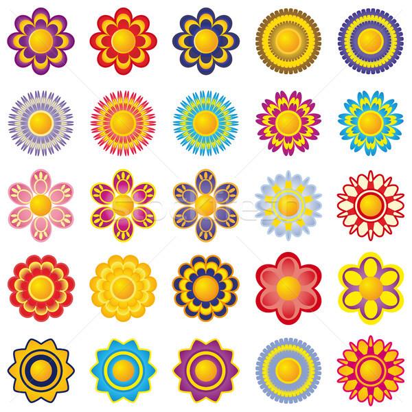 花 要素 セット 20 5 ストックフォト © ElenaShow
