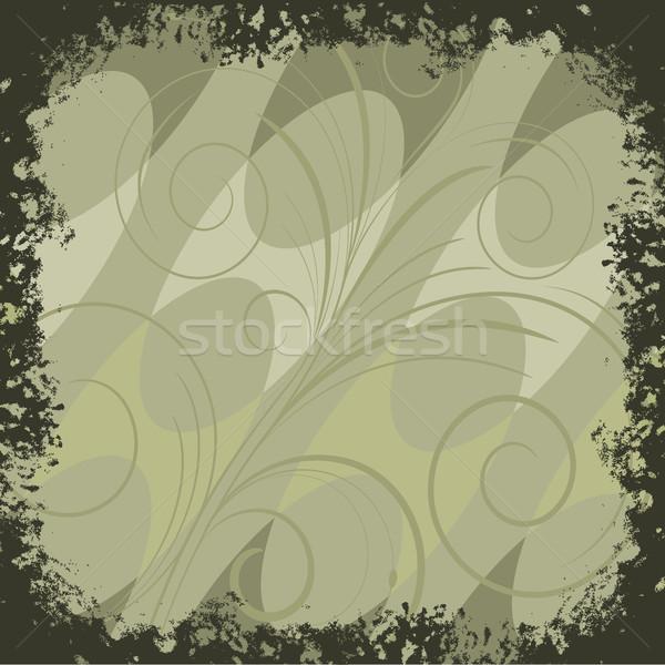 Sfondo verde verde linee abstract turbinio design Foto d'archivio © ElenaShow
