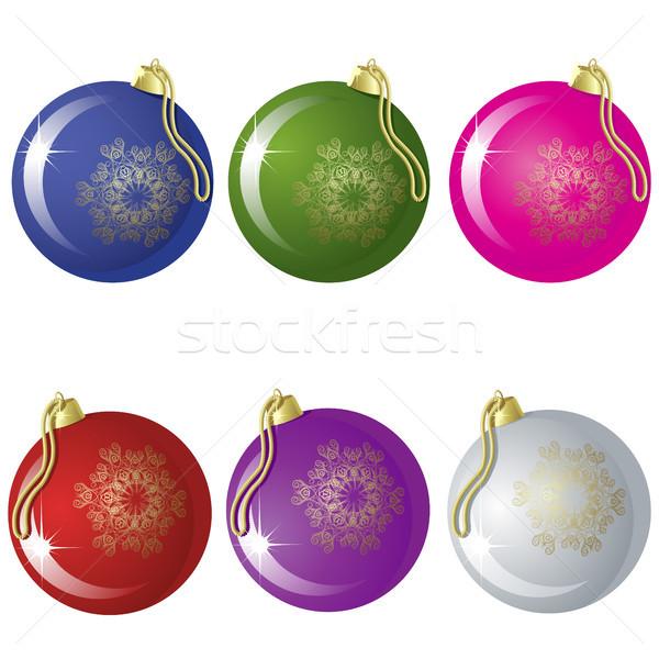 Set sei Natale diverso colori Foto d'archivio © ElenaShow