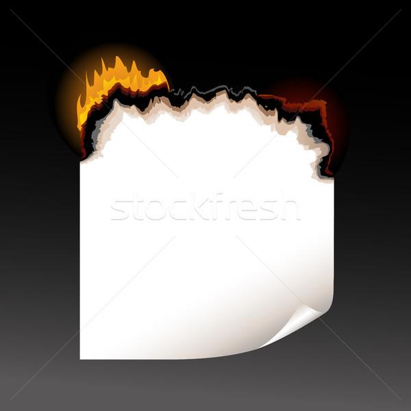 A piece of burning paper Stock photo © ElenaShow